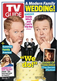 La copertina del magazine #TvGuide per il Matrimonio dell'anno in Tv! Chi è pronto a celebrare Mitch & Cam? #ModernWedding