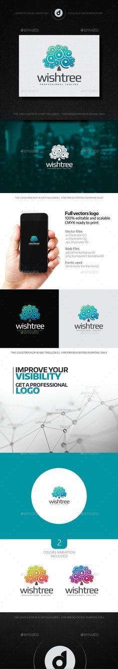 Wish Tree - Logo Design Template Vector #logotype Download it here: http://graphicriver.net/item/wish-tree-logo/15076894?s_rank=84?ref=nexion