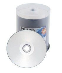 400 Philips 16X DVD-R 4.7GB Silver Inkjet Hub Printable by Philips. $112.73. This recordable DVDs from Philips is compatible with most DVD players and computer-based DVD drives. Each disc holds up to 4.7GB of music video or other data and records at speeds up to 16x.With DVD-R Media just one disc type is suitable for both Video and Data recordings. Philips DVD-R Video and data recording Media plays on existing and future DVD Video and DVD-Rom players and is su...