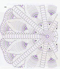 """도안 :: 싱그러운 봄날♥"""" : 네이버 블로그 Free Crochet Doily Patterns, Crochet Doily Diagram, Crochet Circles, Crochet Mandala, Crochet Round, Crochet Home, Filet Crochet, Crochet Motif, Crochet Designs"""