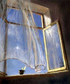 Breeze through an open window