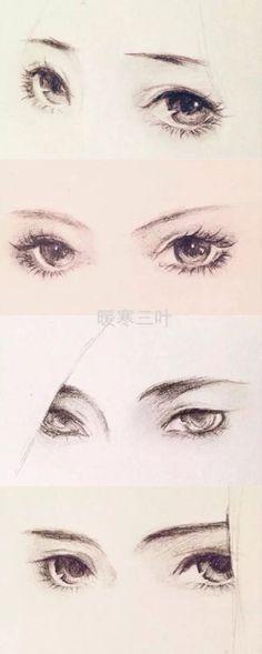 Anime Eyes Drawing, Realistic Eye Drawing, How To Paint Eyes, How To Draw Anime Eyes, How To Sketch Eyes, Eye Sketch, Eye Drawings, Drawing Sketches, Pencil Drawings