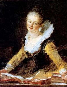 Retrato de jovem, ou O estudo, 1769    Jean-Honoré Fragonard (França, 1732-1806)
