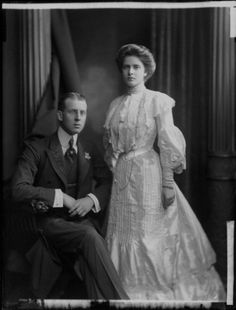 Princess Alice of Greece and Denmark and Prince Andrew of Greece (Parents of Prince Philip) By Henry Walter Barnett Whole-plate glass negative, 1903 Phiip look so much like his Father.