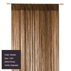 Wholesale (12 pieces/lot) 3'x9' (90x275cm) Decorating Brown string curtain for home decor and room dividers Free shipping on AliExpress.com. $188.76