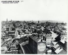 View of Sydney (from The Rocks) 1904 by State Records NSW, via Flickr