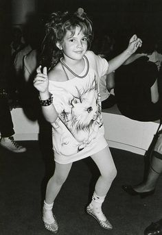Drew Barrymore at a club in 1984 (ummmmm... wasn't she a little young to be at Studio 54?
