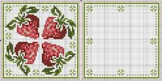 cuisine - kitchen - fraise - point de croix - cross stitch - Blog : http://broderiemimie44.canalblog.com/