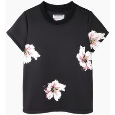 Charles Anastase James Dean Floral Neoprene T-Shirt found on Polyvore