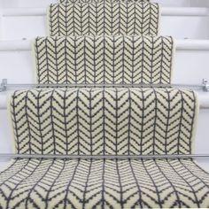 Width - Modern Cream Chevron Stair Carpet at Kukoon - UK's leading Rug Specialist. Stairway Carpet, Hall Carpet, Carpet Stairs, Basement Carpet, Rug Runners, Hall Runner Rugs, Hallway Carpet Runners, Stair Runners, Beige Carpet
