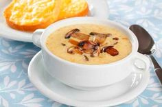 MUSHROOM SOUP WITH CHEESE   ::Click for recipe::