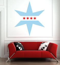 Decorate With Murals and Wall Tattoos Chicago Tattoo, Chicago Art, Vinyl Decals, Wall Decal, Star Wall, Star Tattoos, Wall Prints, Home Remodeling, Wall Murals