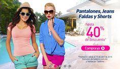Hasta 40% de Descuento en Pantalones, Jeans, Faldas y Shorts. Exclusivo de liverpool.com.mx