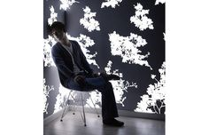 Very cool!  Light-emitting wallpaper!