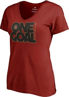 edf44bc4e6f MLS Women's 2018 MLS Cup Playoffs Atlanta United Center Circle Red T-Shirt,  Size: Small