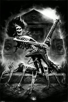 Rock n' Roll. I think this would make an awesome back piece