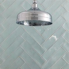 Holy Herringbone this shower is ah-mazing! Featuring our Crayon Marina Gloss Tile. Small Bathroom, Master Bathroom, Bathrooms, Santa Fe Home, 1930s House, Feature Tiles, Interior Design Inspiration, Herringbone, House Design