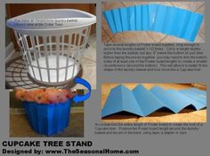 Cupcake Tree Stand directions- Might do a spin on this next year.