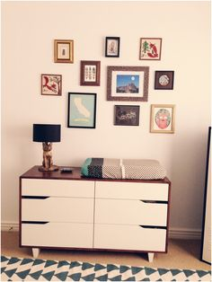 Rivers and Rhodes: Modern Lumberjack Nursery MANDAL dresser / stained with a darker color to match. Decoration Inspiration, Decor Ideas, Apartment Living, Apartment Hunting, Boy Room, Child's Room, Baby Boy Nurseries, Cool Furniture, Ikea Furniture