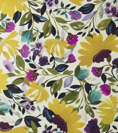 vivid floral spring floral by Clarke & Clarke. The wallpaper print is called Ariadne's Dream by Kim Parker from her Artbook collection.
