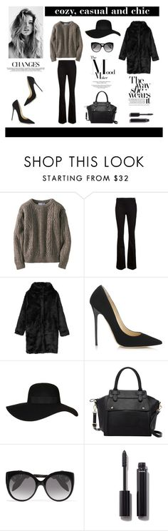 """""""#fallsweaters"""" by theoutfitlookbook ❤ liked on Polyvore featuring Uniqlo, Frame Denim, Monki, Jimmy Choo, Topshop, Pink Haley, Alexander McQueen and Chanel"""