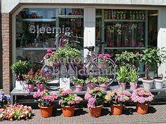 Buitenetalage van bloemenzaak