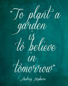 Believe in tomorrow. Audrey Hepburn