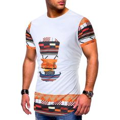 2019 T Shirt Men Summer 2019 African Printed Short Sleeve O Neck Vintage Casual Hip Hop Funny Tshirt Tee Shirt Homme # African Wear, African Attire, Ethnic Print, Mens Tees, Shirt Men, Types Of Sleeves, Short Sleeves, Printed Shorts, Funny Tshirts