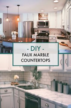 Canu0027t Believe Itu0027s Not Real Marble!! (itu0027s Paint!) Easy And Affordable DIY  Countertop Makeover. Transform Any Desktop, Vanity, Or Countertop Into A  Custom ...