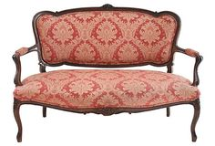 Louis XV Style Walnut Settee ♠️♠️More At FOSTERGINGER @ Pinterest. ♠️♠️