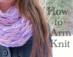 Arm Knitting!!! No talking, but a good tutorial