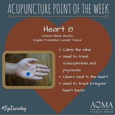 #TipTuesday: #Acupuncture Point of the Week, Heart 8! ☺️ #integrativelife
