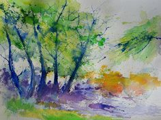Watercolor Spring 2016 Painting by Pol Ledent