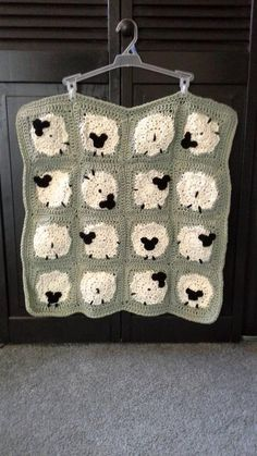 Sheeps Granny Sqaures Baby Blanket by DixiesStitch on Etsy