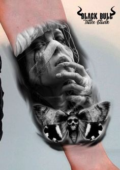 Bull Tattoos, 3d Tattoos, Black And White Drawing, Black And Grey Tattoos, Angel Of Death Tattoo, Tupac Tattoo, Tatoo Designs, Lotus Tattoo, Arte Horror