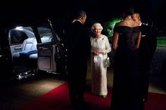 """May 25, 2011  """"The President and First Lady bid farewell to Queen Elizabeth II and Prince Philip, Duke of Edinburgh, before they departed Winfield House in London following a dinner in honor of the Queen.""""  (Official White House Photo by Pete Souza)"""
