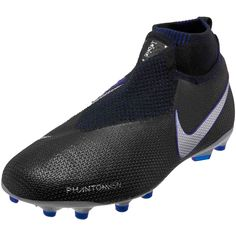 Buy the Kids Nike Phantom Vision Elite MG shoes in black and blue from SoccerPro. Pay attention to the best soccer store online as we get your product to you with fast shipping and easy returns. Shop for all your Nike Soccer Cleats here always! Kids Soccer Cleats, Soccer Store, Soccer Gear, Soccer Kits, Youth Soccer, Phantom Vision, White Nike Shoes, Sports, Boots