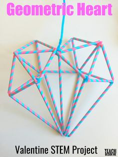 Valentine STEM Geometric Heart is part of Science Gifts Pipe Cleaners - Need a Valentine STEM project Make a Geometric Heart out of straws and pipe cleaners Space Activities For Kids, Stem Activities, Teamwork Activities, Stem Projects, Science Fair Projects, Art Projects, Escape Room, Stem Science, Science Games