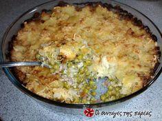 Αρακάς στο φούρνο με πουρέ πατάτας #sintagespareas