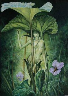 Le Nouveau Chapeau by Severine Pineaux. Oil on canvas Forest Creatures, Magical Creatures, Fantasy Creatures, Fantasy Forest, Fantasy Art, Illustrations, Illustration Art, Dragons, Magic Realms