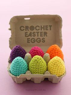 Crochet Easter Eggs in Cotton Yarn