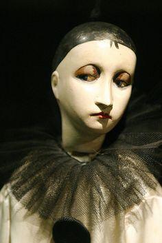 .ceramic puppet. Pierrot la Lune