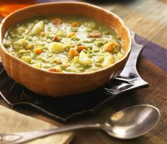 You won't believe these scrumptious soups are all vegan and fat-free!: Slow-cooked Split Pea and Potato Soup