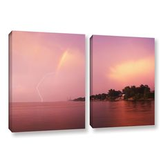 Rainbows And Lightning by Dan Wilson 2 Piece Gallery-Wrapped Canvas Set