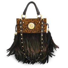 Michelle Monroe S Unique Collection Of Feather Bags Which Are Combined With Exotic Skins