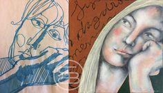 Sketch and painting 'Daydreaming'. #art #dutchart #painting #kunst #schilderij