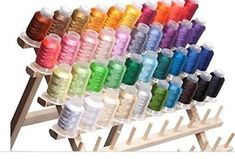 40 Spools Polyester Embroidery Machine Thread Bright and Beautiful Colors for Brother Babylock Janome Singer Pfaff Husqvarna Bernina Machines Embroidery Machine Reviews, Machine Embroidery Thread, Embroidery Supplies, Embroidery Patterns Free, Embroidery Designs, Sewing Tutorials, Sewing Crafts, Sewing Projects, Thread Spools