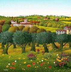 "Cesare Marchesini (1939 -): ""Ulivi a Primavera"""