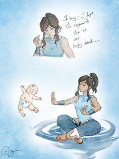 "TLOK - Korra: avatar, legend [ ""air sit and baby-bend"" lol ]"