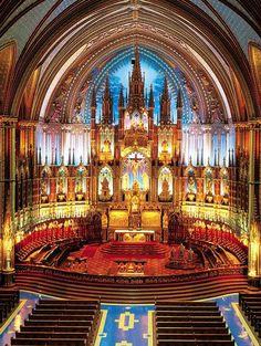 Basílica Notre-Dame de Montreal, Canadá.
